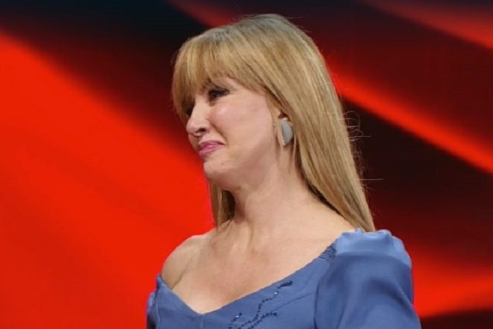 Milly Carlucci in lacrime